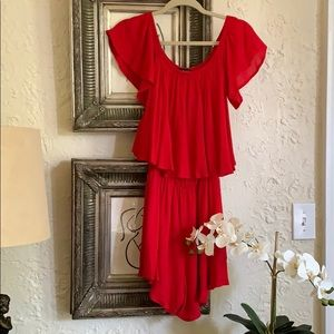 Mary & Maybel Red Romber Ruffle NWOT Small